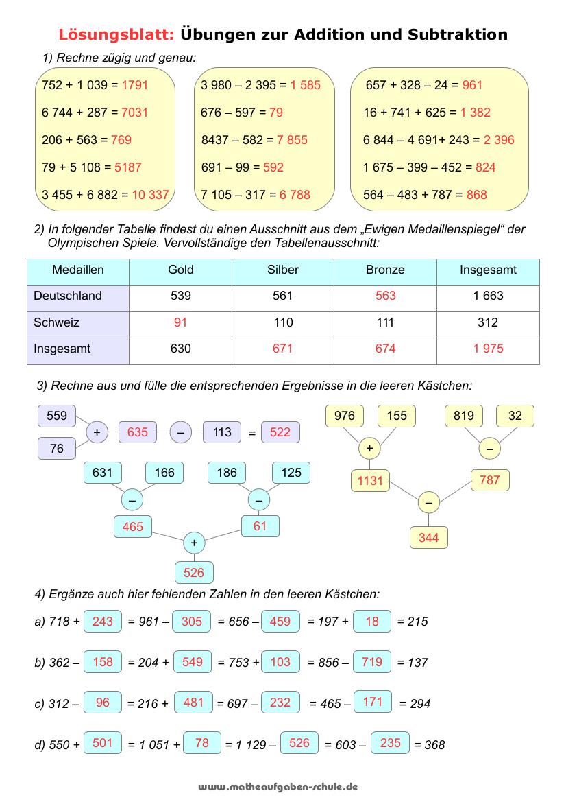 Mathe Übungsblätter