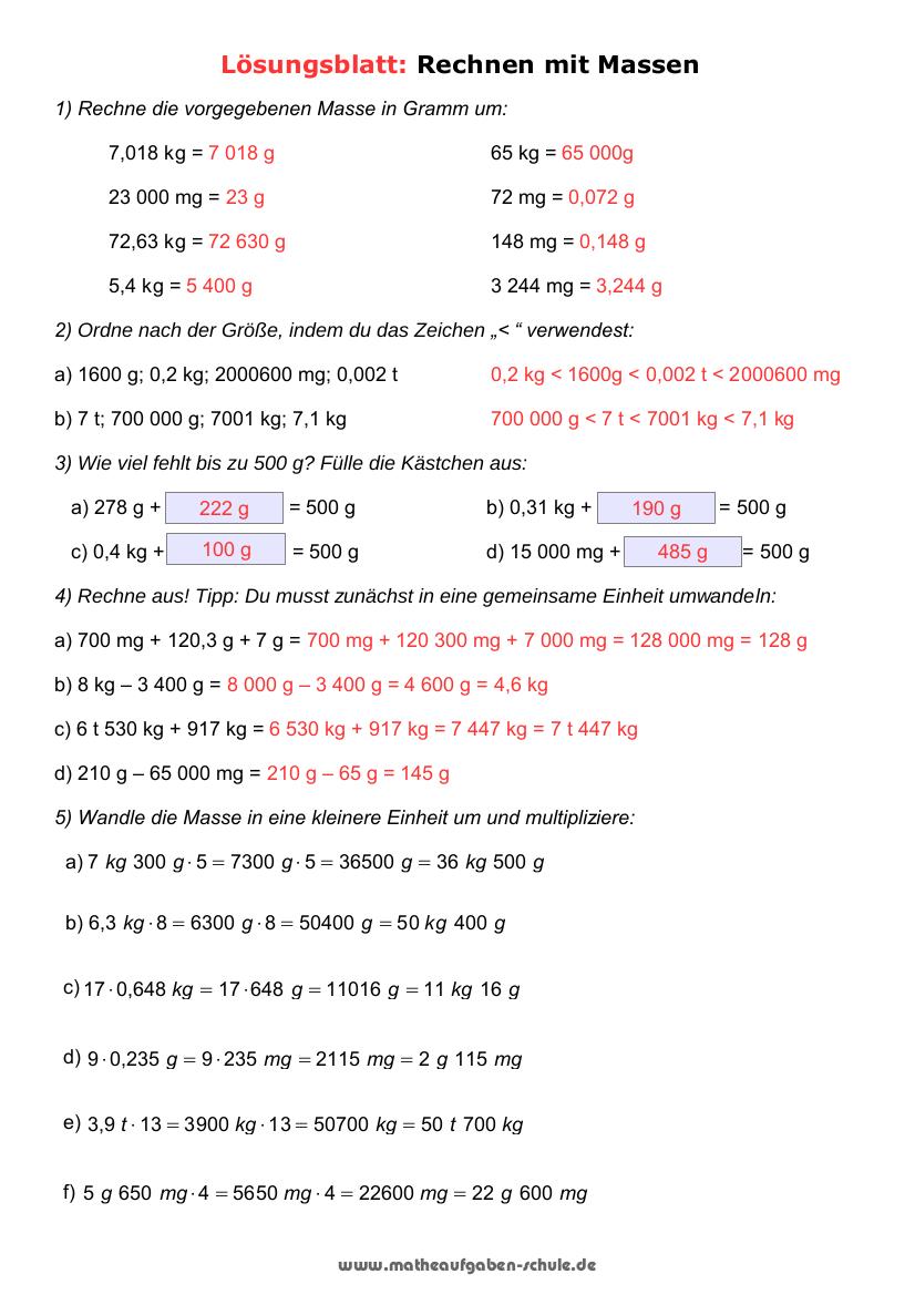 Kostenlose Mathe Übungsblätter